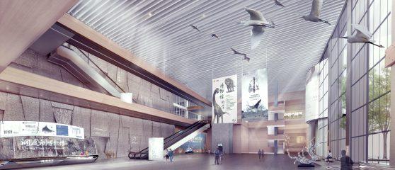 洞庭湖博物馆公共大厅